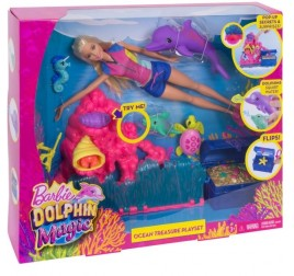 FCJ29 BARBIE MAGIA DELFINO PLAYSET