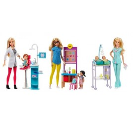 DHB63 BARBIE PLAYSET CARRIERA