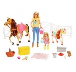 FXH15 RANCH DI BARBIE E CHELSEA
