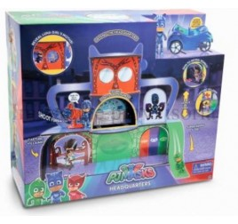 PJM06001 PJ MASKS SET QUARTIER GENERALE