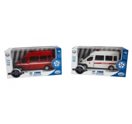 41117 SILVER WHEEL FORD TRANSIT 1:52