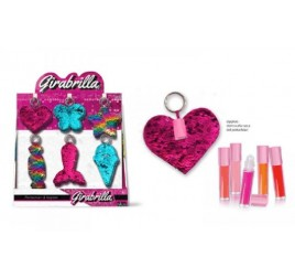 02539 GIRABRILLA KEYCHAIN AND LIP GLOSS