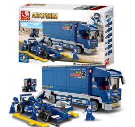 B0357 CAMION GARA F1 BLUE LIGHT.