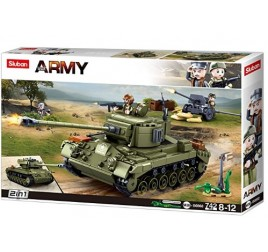 B0860 MODELBRICKS TANK MEDIUM 2 IN 1