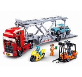 B0880 MODELBRICKS TOWN CAR TRANSPORTER